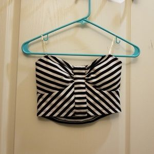 Cute black and white crop top